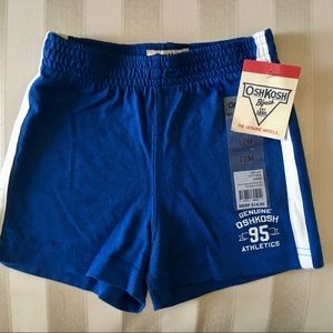 OshKosh Boys Blue Knit Shorts Sz 2T NWT